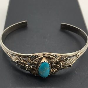 Vintage Signed Native American Sterling Bracelet
